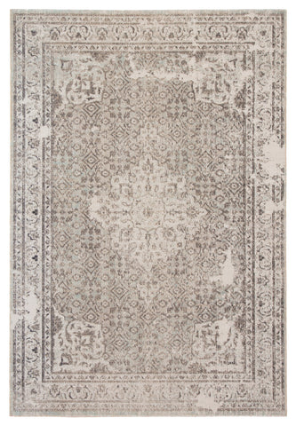 Langley Medallion Rug in Pumice Stone & Sagebrush Green design by Jaipur