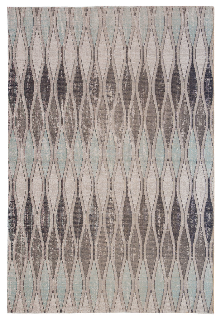 Norwich Geometric Rug in Flint Gray & Arctic design by Jaipur Living