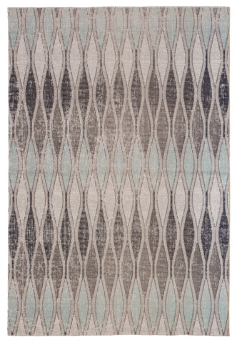 Norwich Geometric Rug in Flint Gray & Arctic design by Jaipur