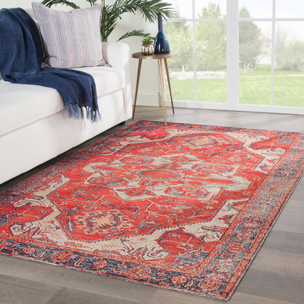 Leighton Medallion Rug in Bruschetta & Gargoyle design by Jaipur