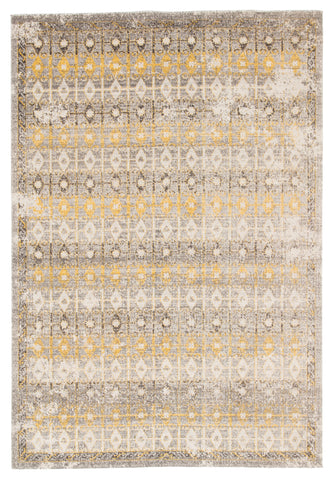 Giralda Indoor/ Outdoor Trellis Light Gray & Yellow Area Rug