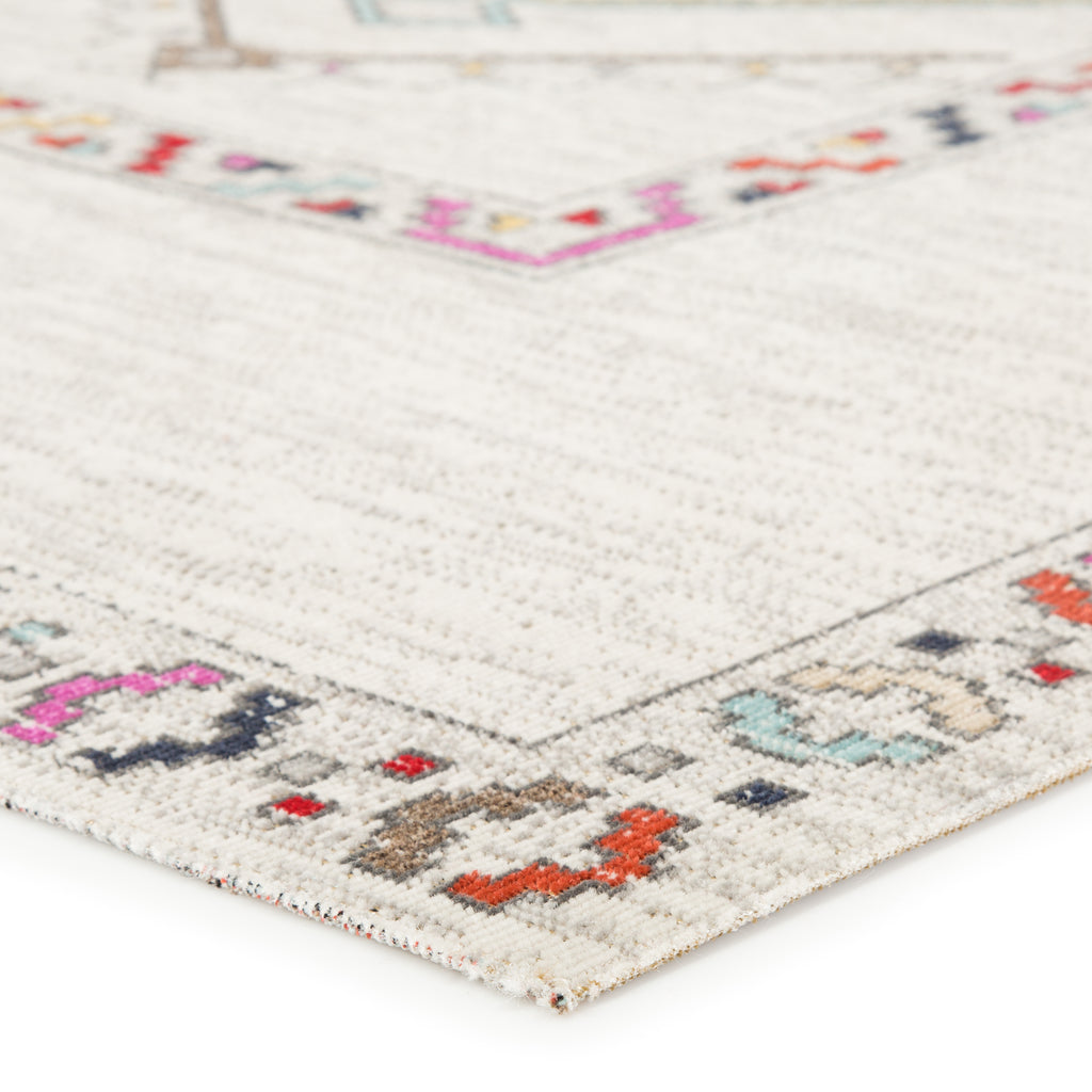 Tov Indoor/Outdoor Medallion Ivory & Multicolor Rug design by Jaipur
