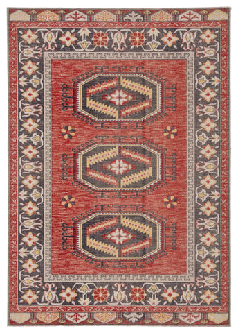 Miner Medallion Rug in Bossa Nova & Goat design by Jaipur