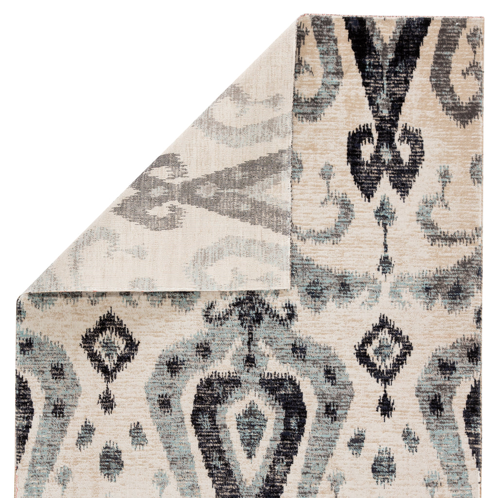 Zenith Indoor/ Outdoor Ikat Blue/ Black Rug design by Jaipur