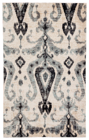 Zenith Indoor/ Outdoor Ikat Blue/ Black Rug design by Jaipur Living
