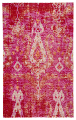 Zenith Indoor/ Outdoor Ikat Pink & Orange Area Rug