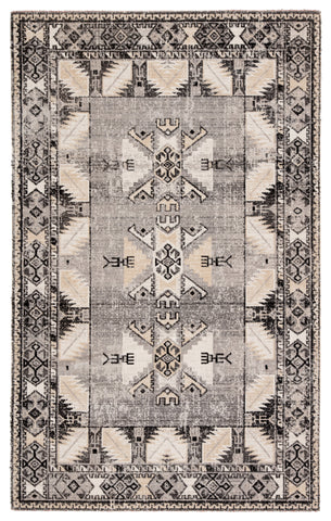 Paloma Indoor/ Outdoor Tribal Gray/ Beige Rug design by Jaipur Living
