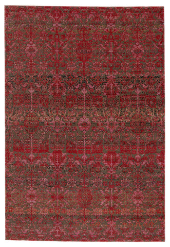 Bodega Indoor/Outdoor Trellis Rug in Red & Taupe by Jaipur Living