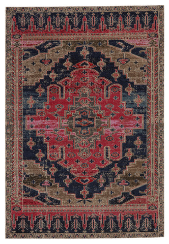 Cicero Indoor/Outdoor Medallion Rug in Pink & Blue by Jaipur Living