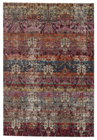 Genesee Indoor/Outdoor Trellis Rug in Multicolor & Pink by Jaipur Living