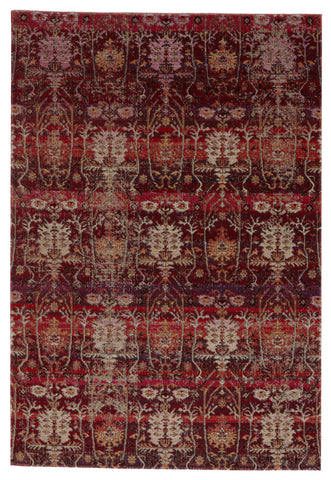 Genesee Indoor/Outdoor Trellis Rug in Red & Beige by Jaipur Living