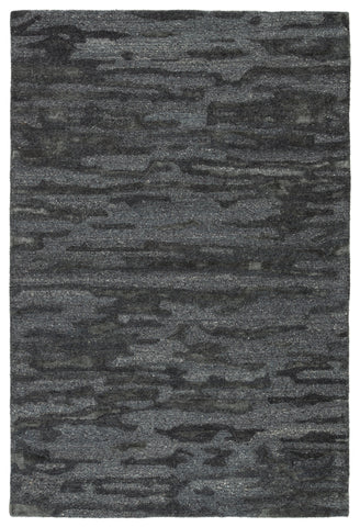 Fjord Handmade Abstract Blue & Gray Rug