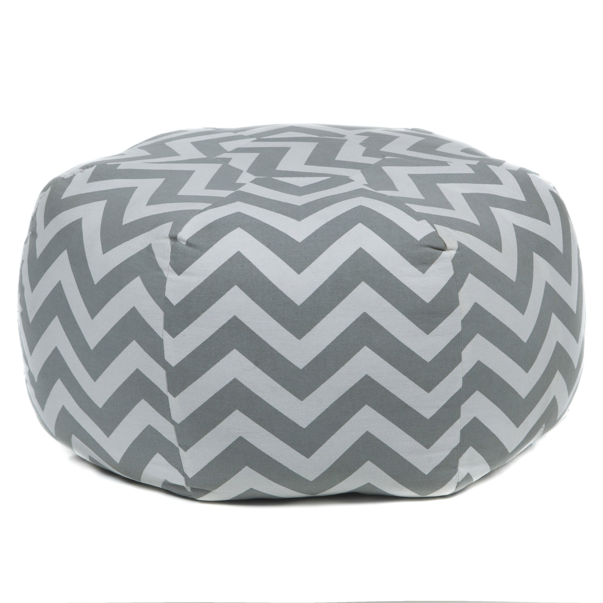 Pouf in Grey & Cream design by Chandra rugs