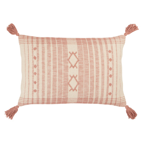 Razili Tribal Pillow in Pink & Cream