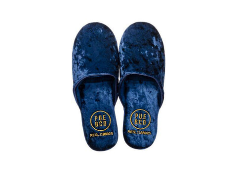 Velvet Slipper - Small - Navy Blue