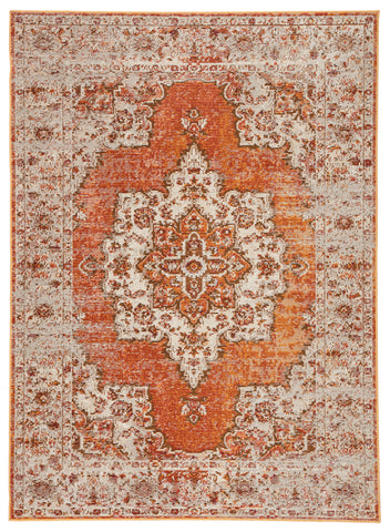 Sontag Medallion Rug in Marmalade & Golden Ochre design by Jaipur