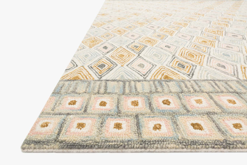 Priti Rug in Mist & Gold by Loloi