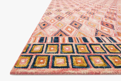 Priti Rug in Pink & Sunset by Loloi