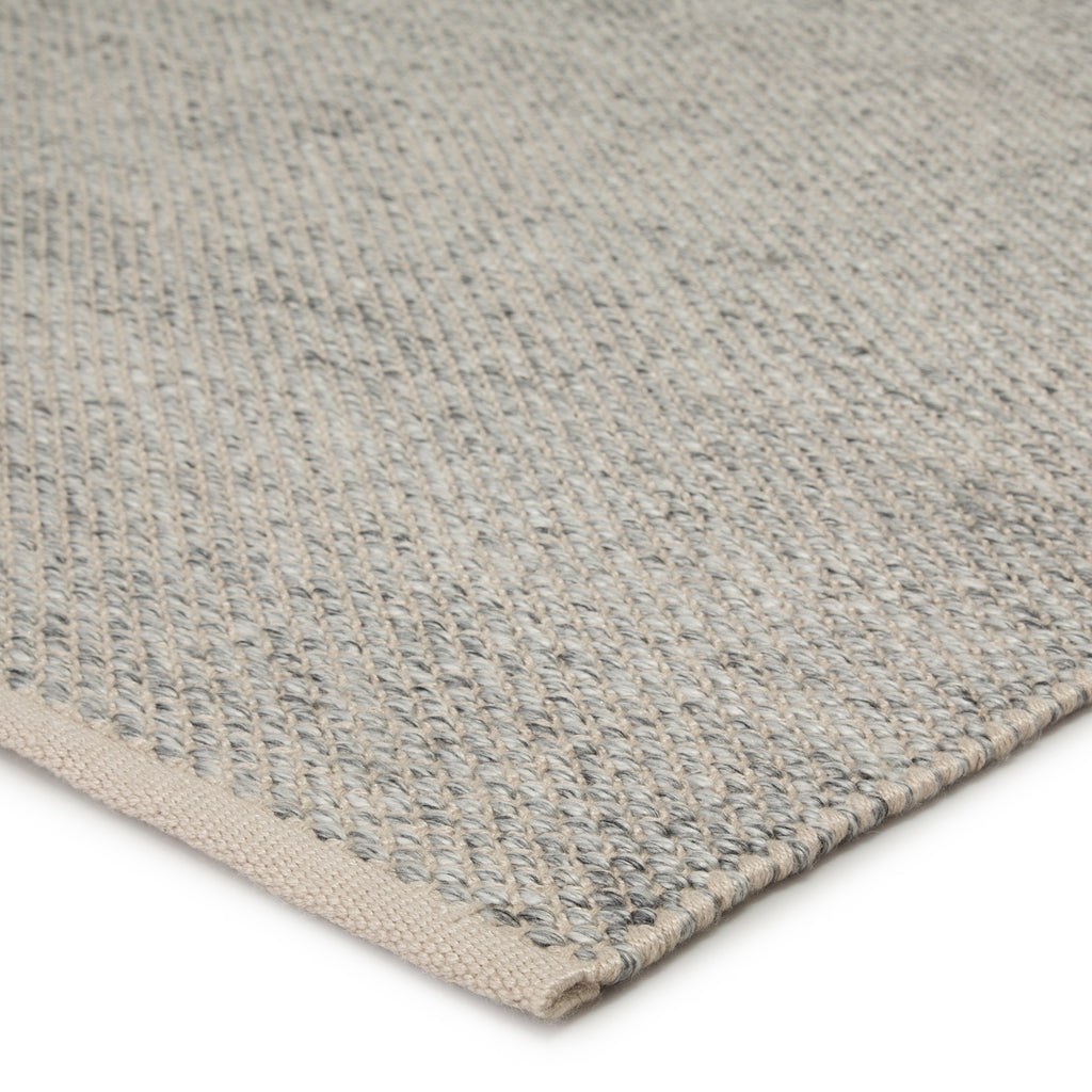 Lamanda Indoor/ Outdoor Solid Light Gray/ Ivory Rug by Jaipur Living