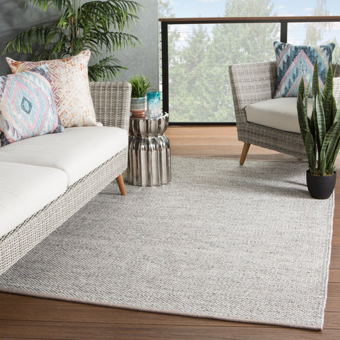 Lamanda Indoor/ Outdoor Solid Taupe/ Gray Rug by Jaipur Living