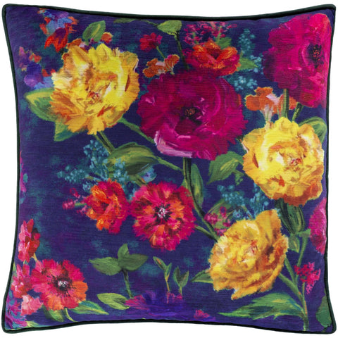 Posy PSY-001 Velvet Pillow in Multi-Color by Surya