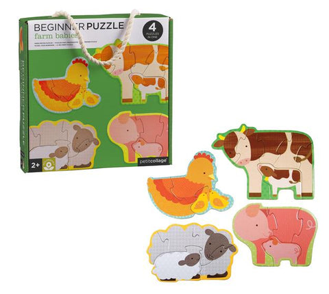 Farm Babies Beginner Puzzle by Petit Collage