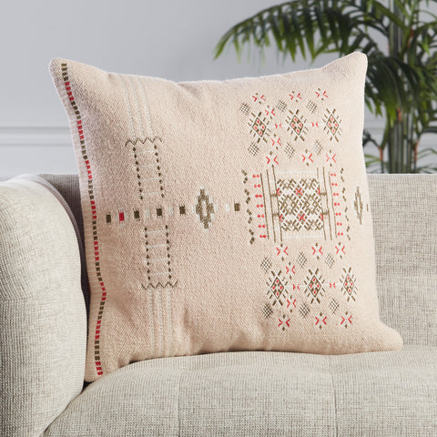Maram Tribal Pillow in Blush by Jaipur Living