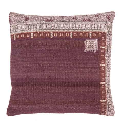 Rania Tribal Pillow in Purple & White by Jaipur Living