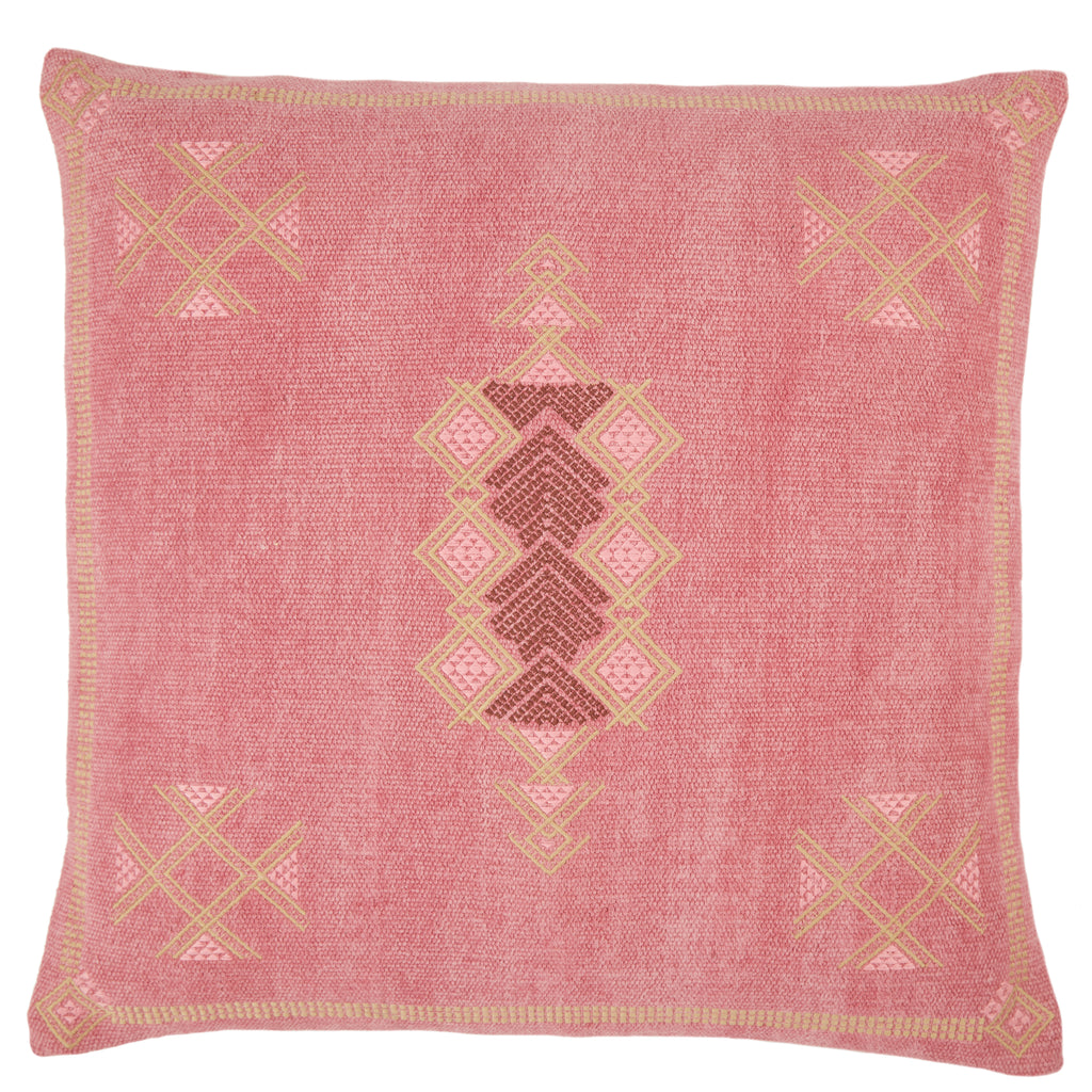 Shazi Tribal Pillow in Pink & Tan by Jaipur Living