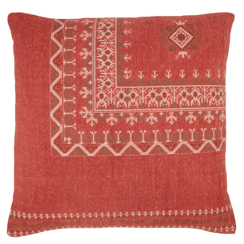 Abeni Tribal Pillow in Red by Jaipur Living