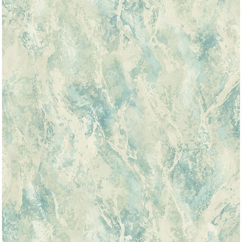 Paint Splatter Wallpaper in Blue, Green, and Off-White from the French Impressionist Collection by Seabrook Wallcoverings