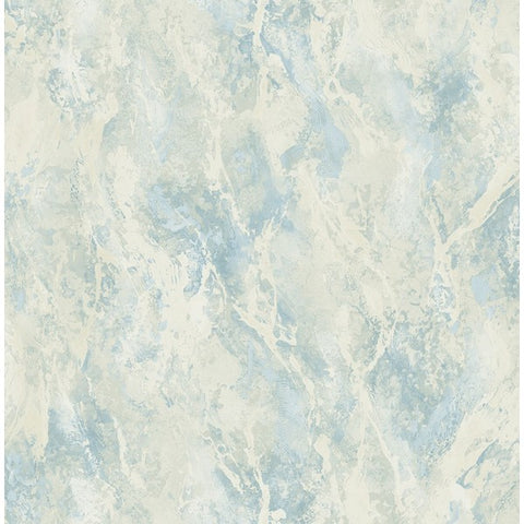 Paint Splatter Wallpaper in Blue and Off-White from the French Impressionist Collection by Seabrook Wallcoverings