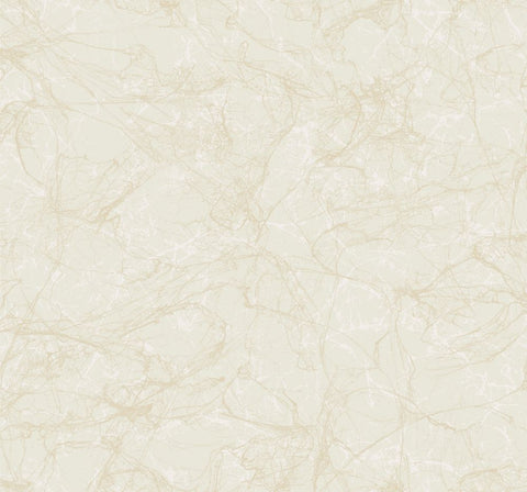 Paint Splatter Wallpaper in Gold and Ivory from the Casa Blanca II Collection by Seabrook Wallcoverings