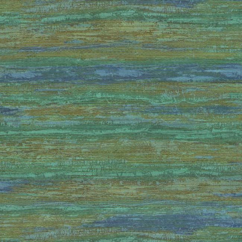 Painterly Wallpaper in Blue and Green from the Urban Oasis Collection by York Wallcoverings