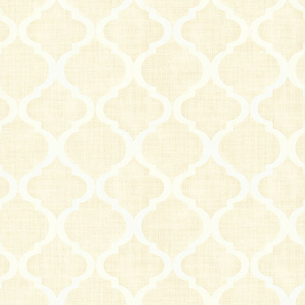 Sample Palace Champagne Quatrefoil Wallpaper from the Alhambra Collection by Brewster Home Fashions