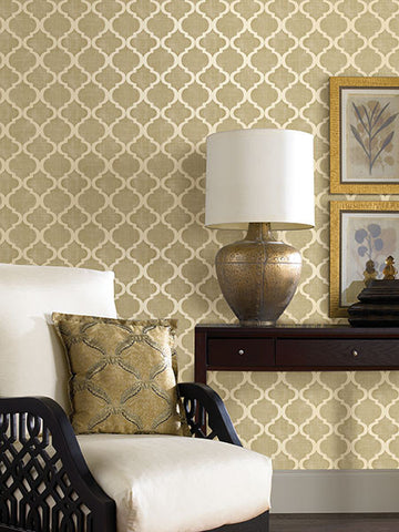 Palace Quatrefoil Wallpaper from the Alhambra Collection by Brewster Home Fashions