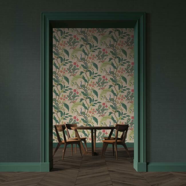 Palette Wallpaper in Hunter Green from the Rifle Paper Co. Collection by York Wallcoverings