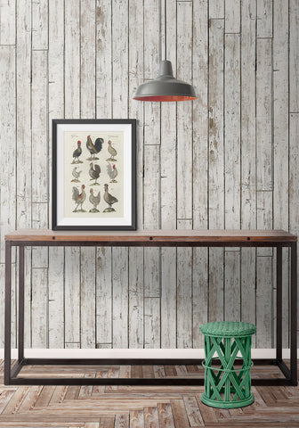 Pally Post Office Boutique Faux Wallpaper design by Milton & King