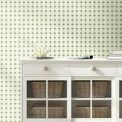 Palm Bay Wallpaper in Fern from the Water's Edge Collection by York Wallcoverings