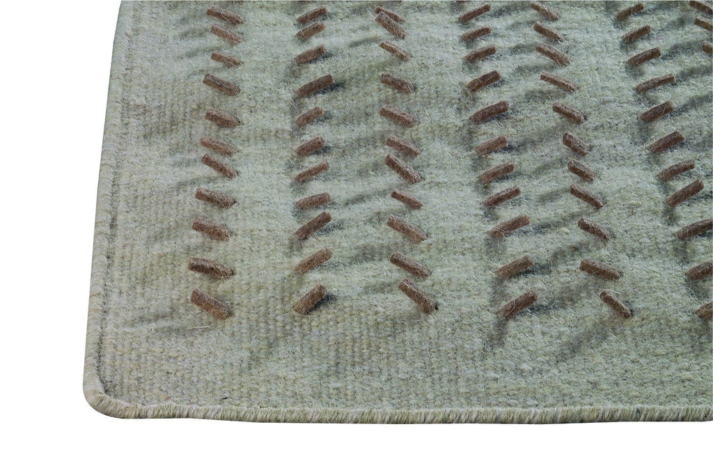 Palmdale Collection Hand Woven Wool and Felt Area Rug in Beige design by Mat the Basics