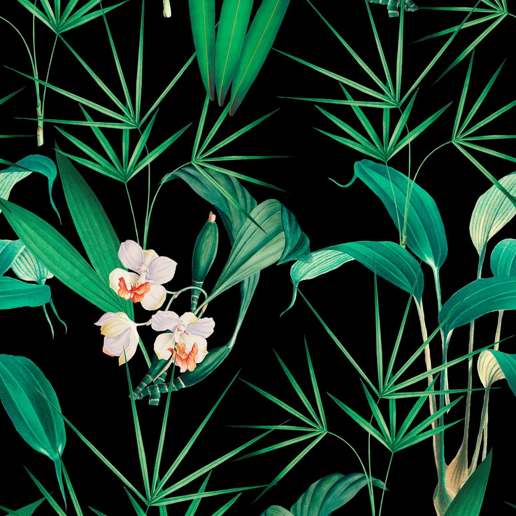 Sample Palm Springs Wallpaper in Anthracite from the Palm Springs Collection by Mind the Gap