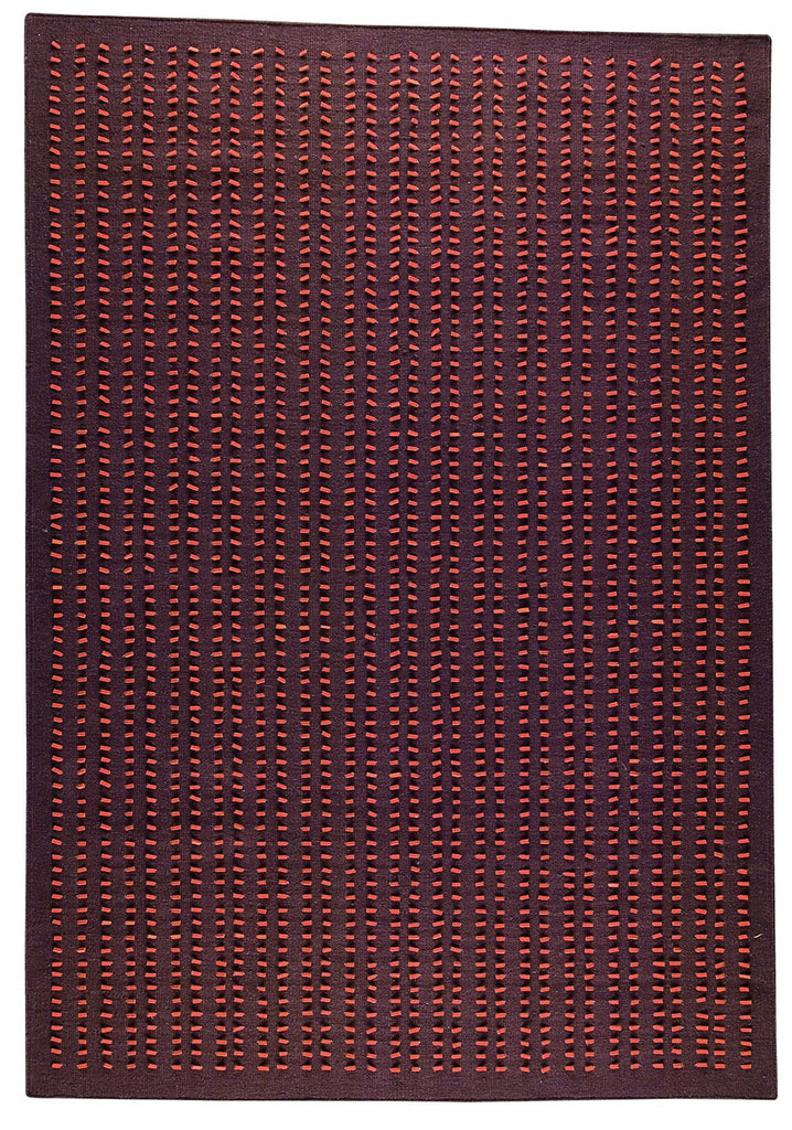 Palmdale Collection Hand Woven Wool and Felt Area Rug in Brown design by Mat the Basics