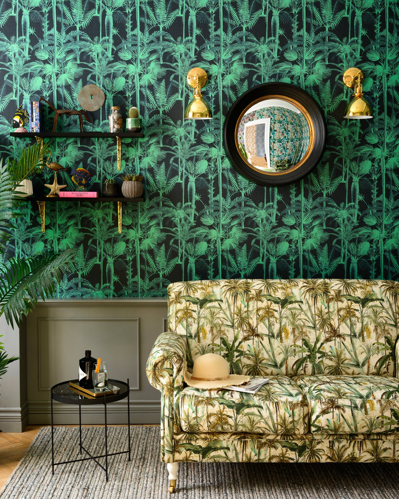 Palmera Cubana Wallpaper in Dark from the Wallpaper Compendium Collection by Mind the Gap