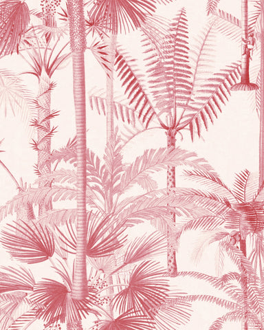 a Cubana Wallpaper in Pink from the Wallpaper Compendium Collection by Mind the Gap