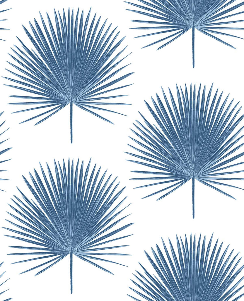 Palmetto Palm Peel-and-Stick Wallpaper in Coastal Blue by NextWall