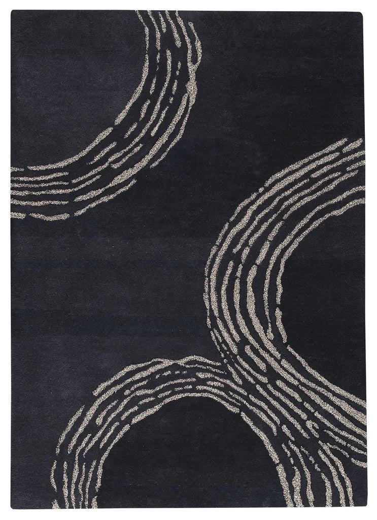 Pamplona Collection Hand Tufted Wool Area Rug in Charcoal design by Mat the Basics