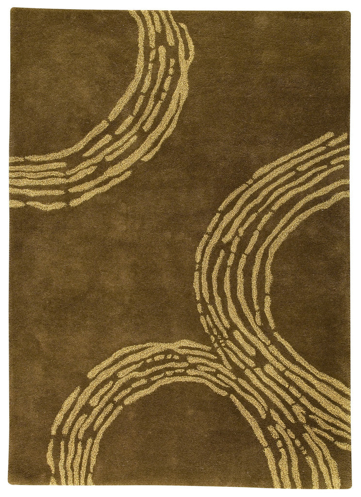 Pamplona Collection Hand Tufted Wool Area Rug in Olive Green design by Mat the Basics