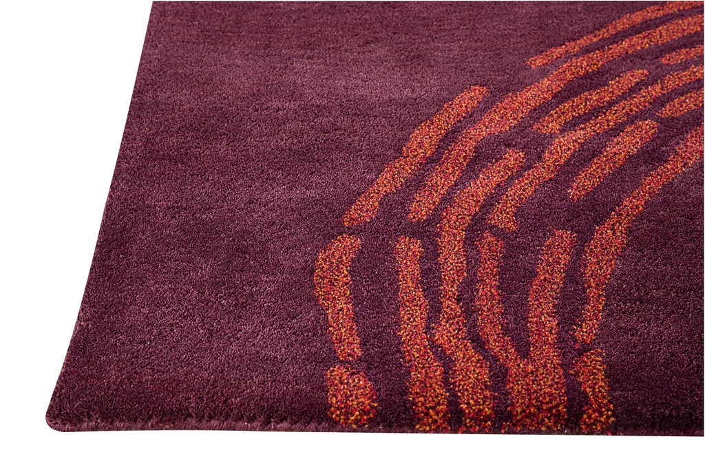 Pamplona Collection Hand Tufted Wool Area Rug in Plum design by Mat the Basics