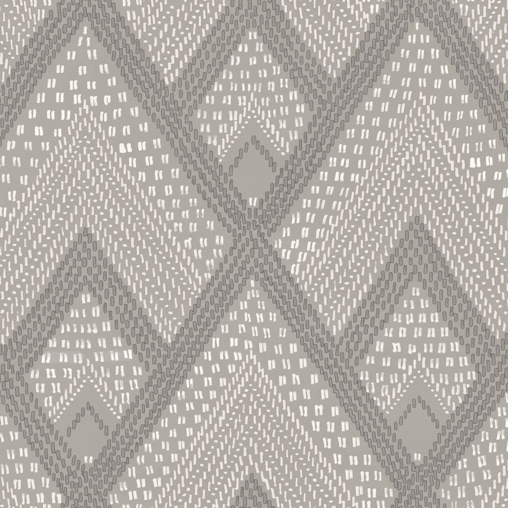Sample Panama Boho Diamonds Wallpaper in Cove Grey from the Boho Rhapsody Collection by Seabrook Wallcoverings