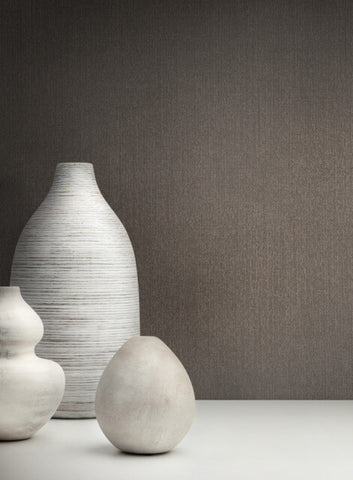 Panama Weave Wallpaper in Cocoa from the Moderne Collection by Stacy Garcia for York Wallcoverings